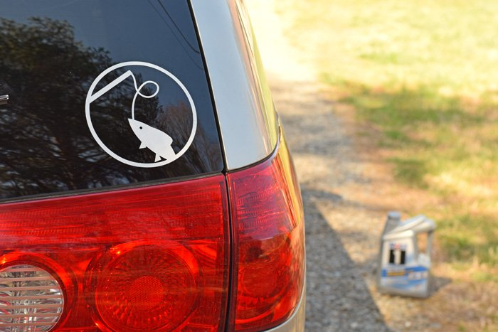 #ad DIY Car Decal tutorial + info on how to earn a Walmart Select  Certificate with the #EarthDayDriveAway promotion! ...