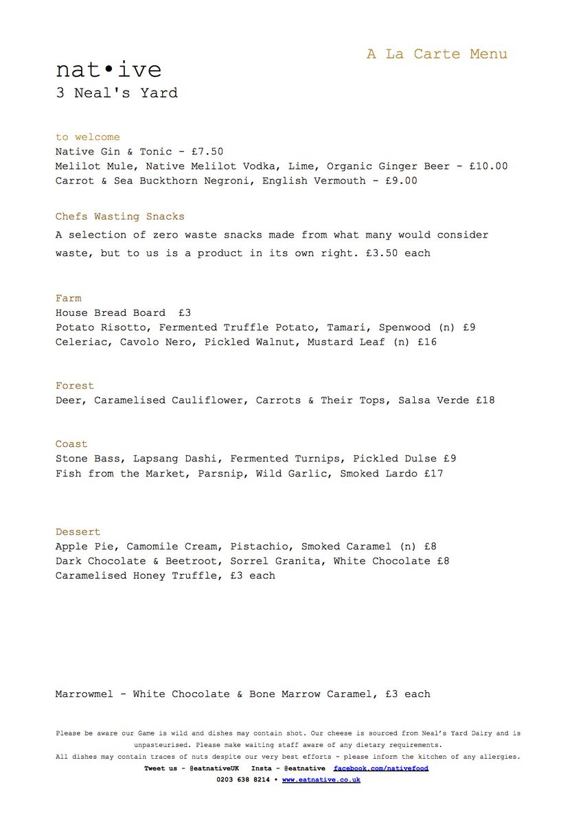 Carte But Document.Nat Ive On Twitter Check Out Tonights New A La Carte Menu