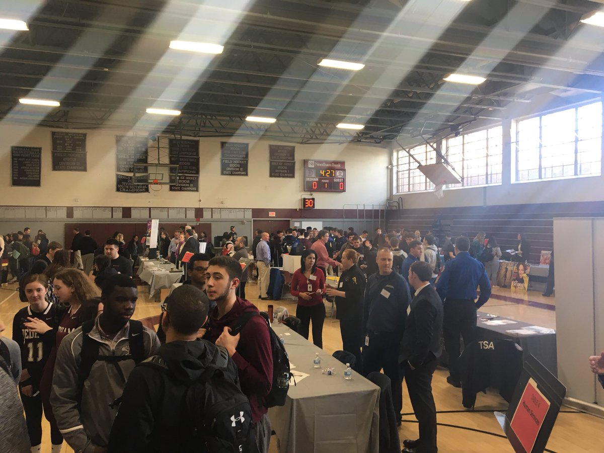 Dedham High School On Twitter Dhs Career Fair 60 Careers For The Students To Dig Into It's one phone call, it's free and it could save your life. twitter