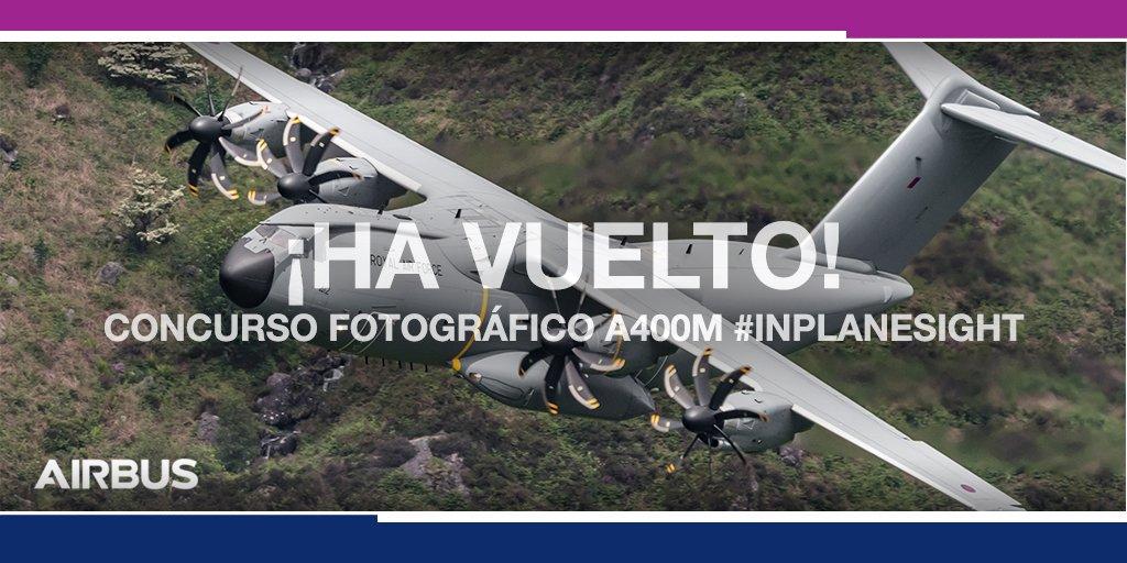 #FIDAE2018 - Preparen sus cámaras 📸, ¡el concurso fotográfico #A400M #InPlaneSight ha vuelto! Para más información: http://a400m-photocompetition.com/