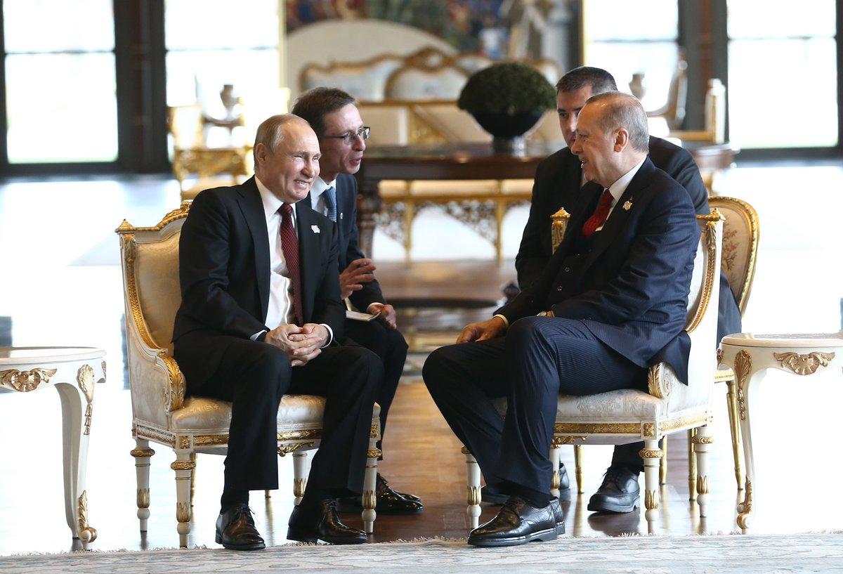 Президент Эрдоган встретился с президентом России Путиным
