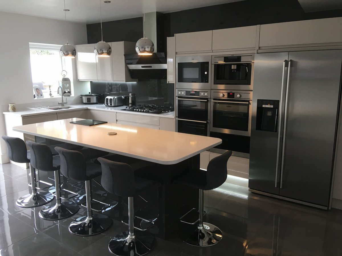 Lochanna Kitchens On Twitter This Recent Kitchen From Lemon Squeezy Kitchens Bathrooms In Profile Cashmere Gloss With A Graphite Gloss Island Is The Perfect Example Of How Well Two Colours In