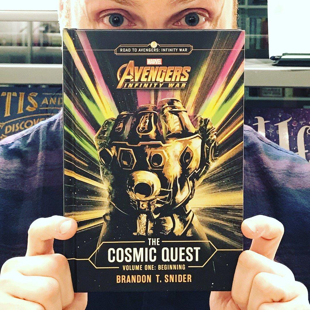 """brandon t. snider on twitter: """"my #avengers #infinitywar book hits"""