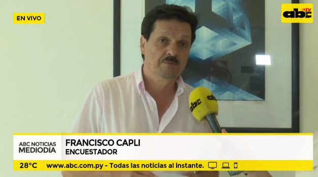 """ABC TV Paraguay på Twitter: """"#EncuestaABC: Francisco Capli indica que en la semana darán más datos. """"El viernes publicaremos la encuesta presidencial"""", señaló. #EleccionesPy #ABCTVpy… https://t.co/sT4r5KKb0k"""""""