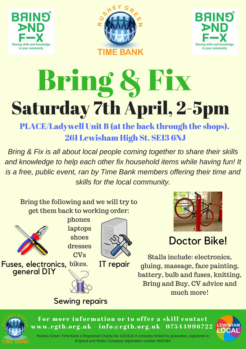 Mary Schnorrenberg On Twitter Oooh Looking Forward To Bring Fix We Recycle The Following Electronics And Much More Loads Of Things Onill Be There Offering Massage Tasters From 330 5pm Libraryofthingslocalsqueeze Lewishamirish Cc Lewisham Paulinewright2