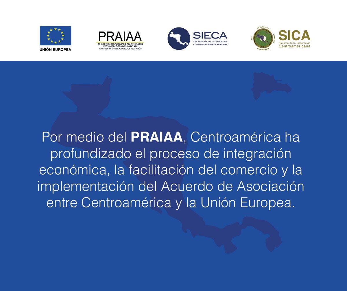 En desarrollo: en #Nicaragua se están presentando los resultados del Proyecto #PRAIAA ejecutado por @sg_sieca y financiado por @UEenNicaragua presiden @VinicioCerezo @sg_sica y Kenny Bell Embajador #UnionEuropeapic.twitter.com/GYUMIy1kNc