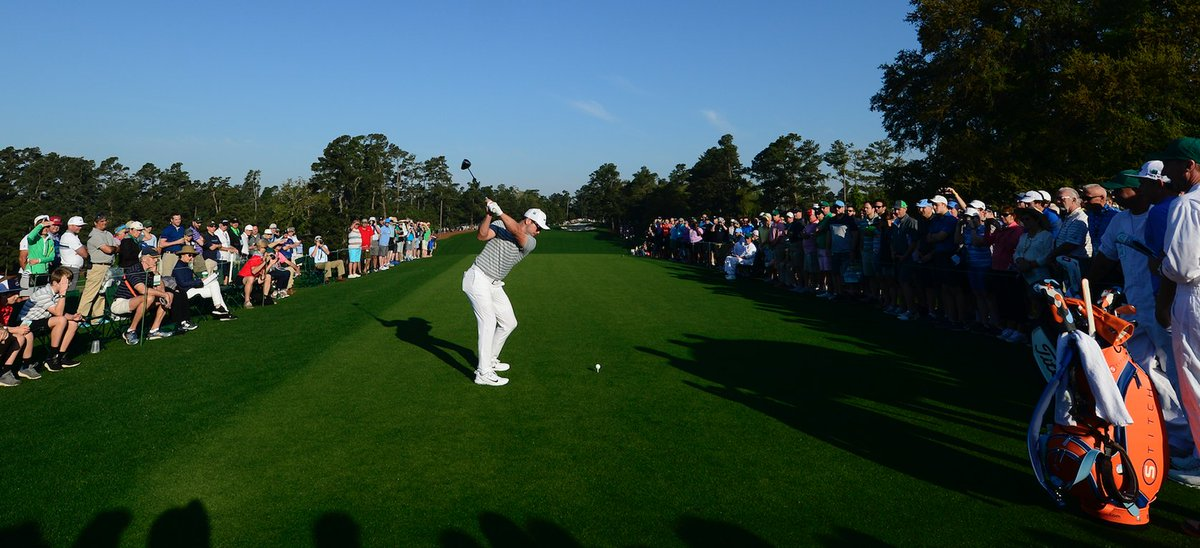That first tee shot at @themasters is something special. Great day of practice so far today!