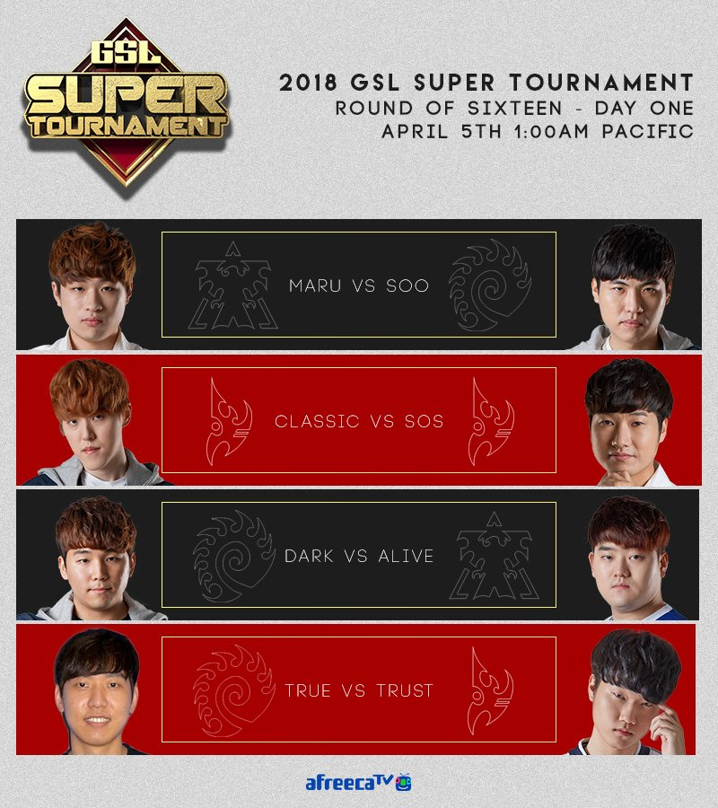 2018 GSL Super Tournament 1. nap