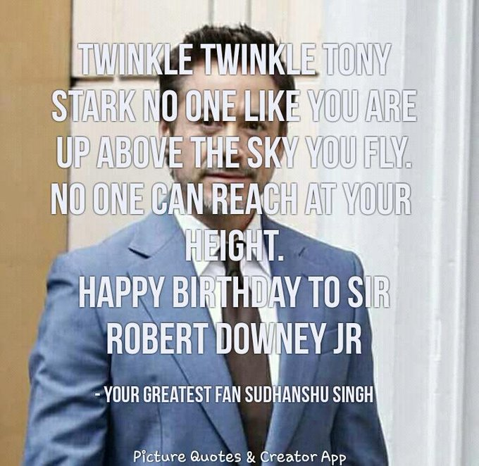 Happy birthday to sir Robert Downey jr