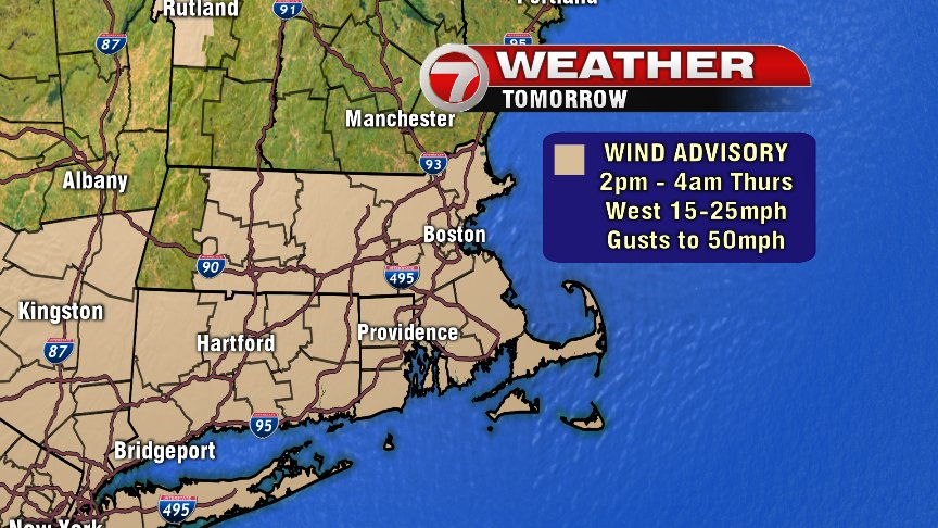 National Weather Service issues wind advisory for Wednesday