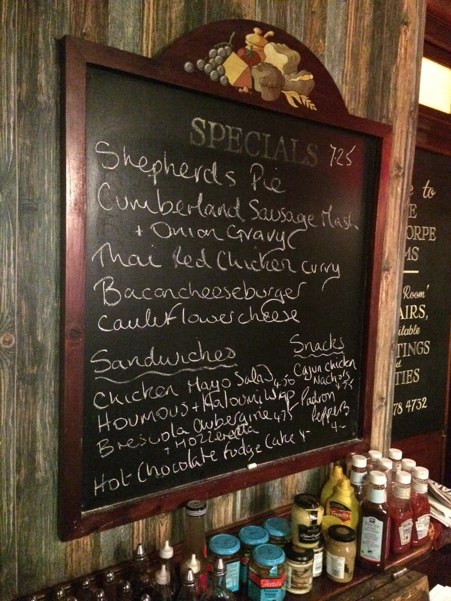 Back to work? Soften the blow with some delicious food from this weeks specials board. https://t.co/G4qvtUZFCT