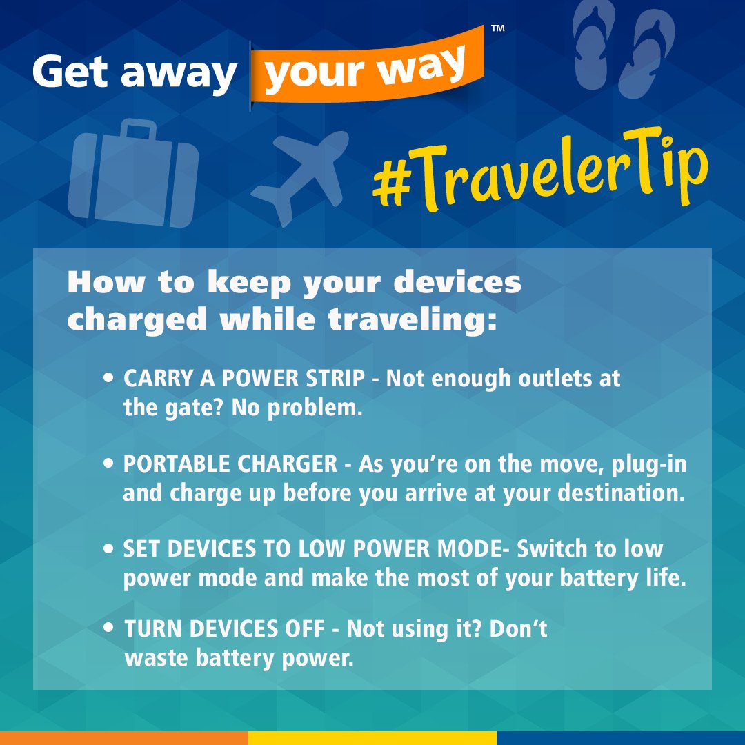 Allegiant On Twitter Ensure Your Vacation Is Fully Charged With 3 Way Switch No Traveler This Weeks Tip Travelertip Getaway Yourway