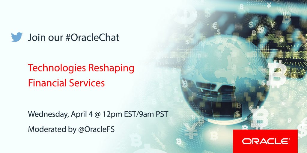 Oracle On Twitter Tune In Our OracleChat Is Today At 900 PST 12