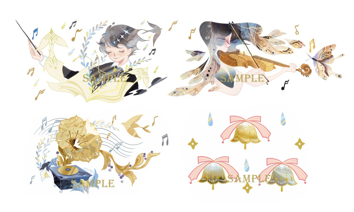 #illustration #Art #washitape Some new pattern for my new wash tape, themed with musician~