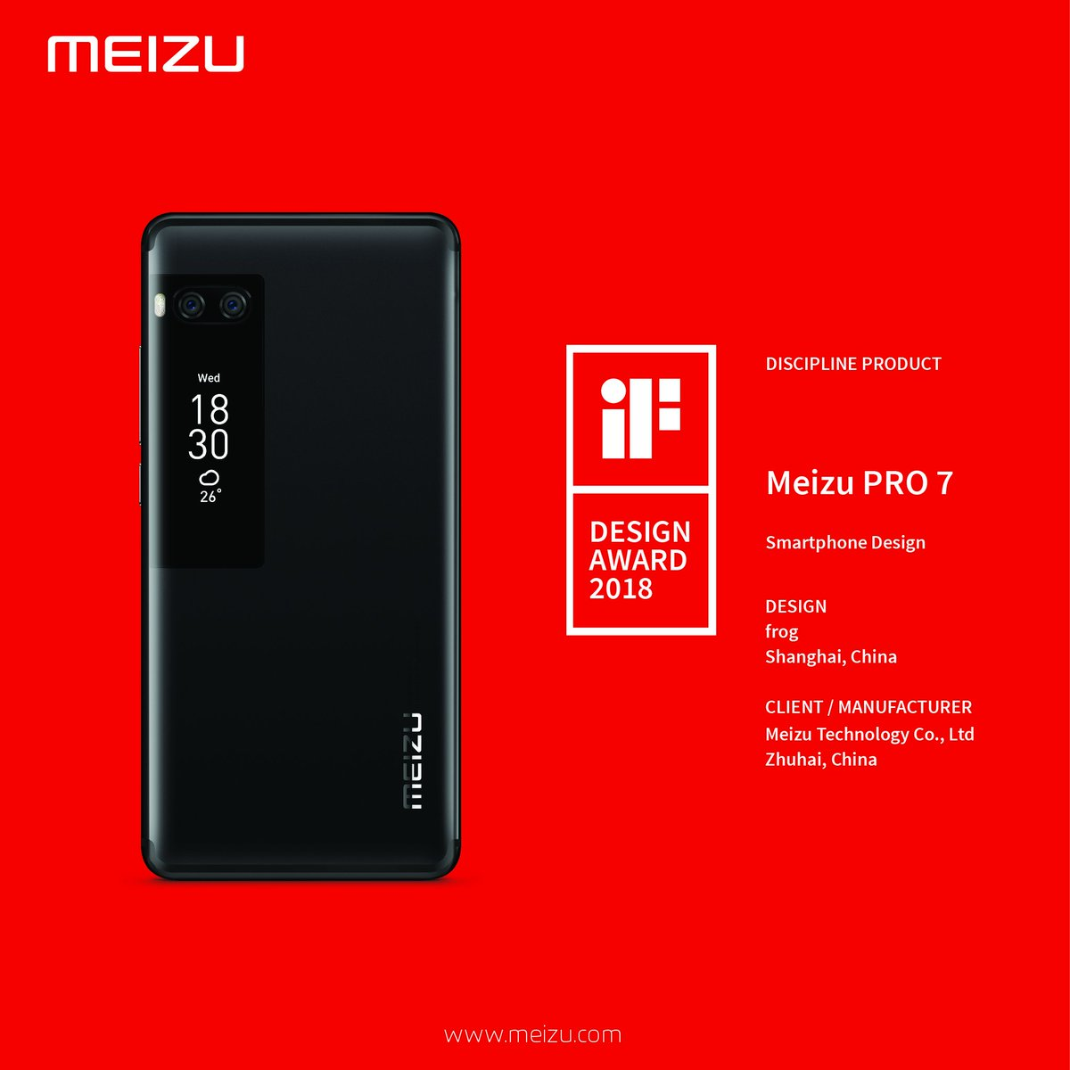 Meizu Pro 7 with Dual Screen has been Launched In India