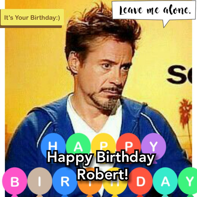 Happy Birthday Robert Downey Jr!!