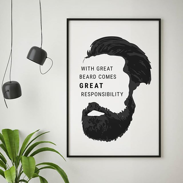 With great beard coes great responsibility.❤️ - Find this wall art in the link in the bio. RESPONSIBILITY by artboxONE Edition - #artboxone #bespecial https://t.co/8cjayVDtHX