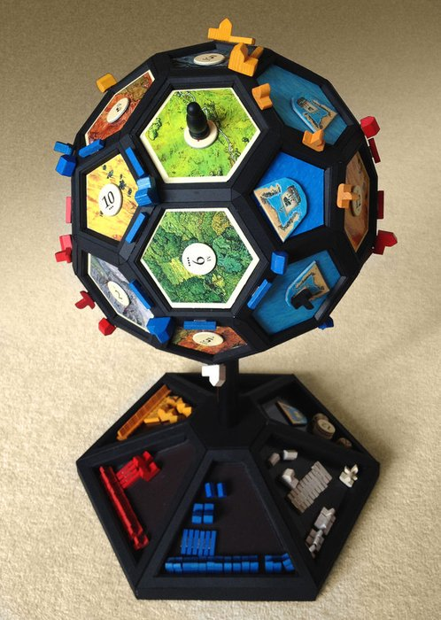 Not all boards have to be flat: Globefarers of Catan  #boardgames #tabletop