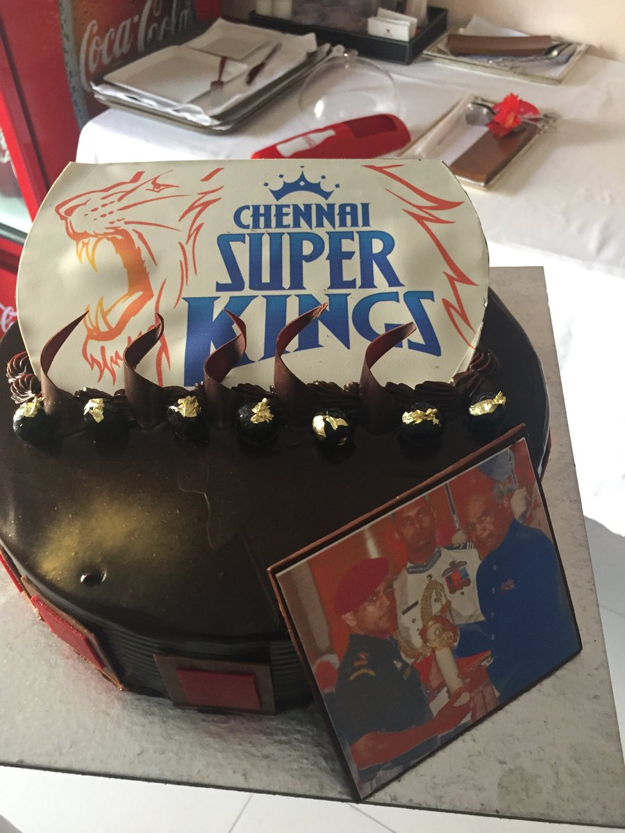 Russell On Twitter A Special Cake For A Special Person Msdhoni