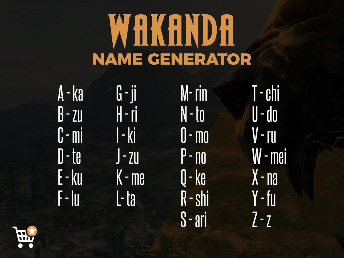wakanda name generator
