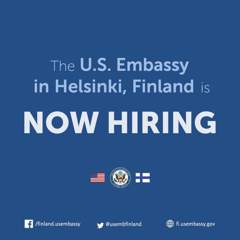 U S  Embassy Finland on Twitter: