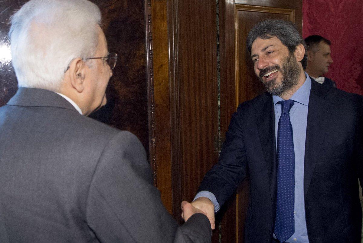 #Quirinale: il Presidente #Mattarella ha ricevuto il Presidente della #Camera #Fico  #consultazioni