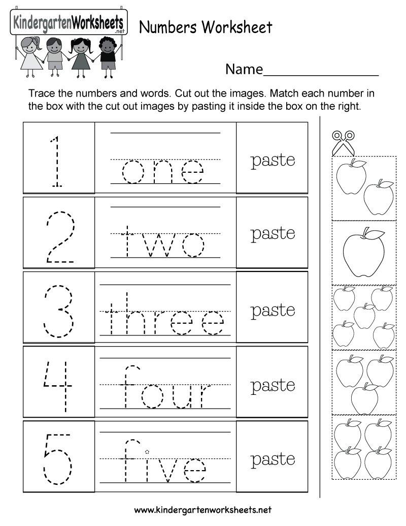 Writing Numbers 1 10 Worksheets Kindergarten