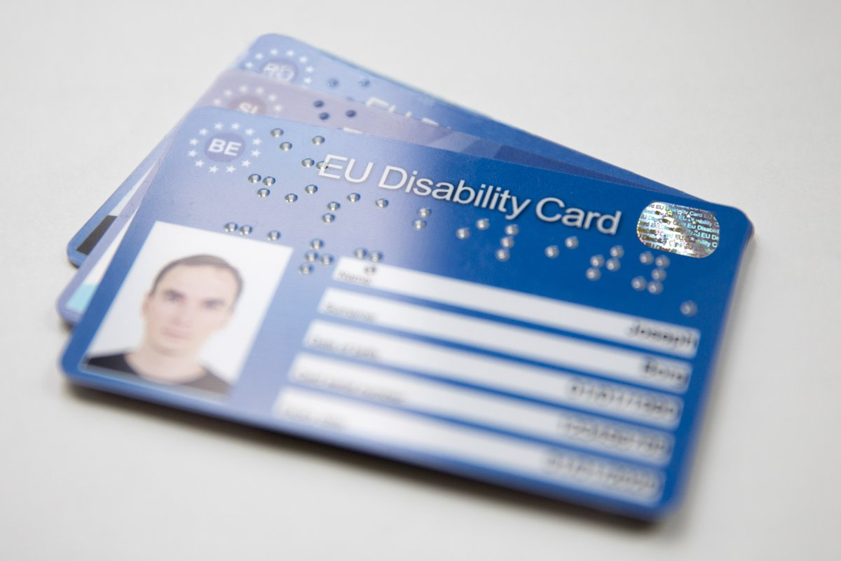 Example of an EU Disability Card in Belgium, where the pilot was first launched in February 2016