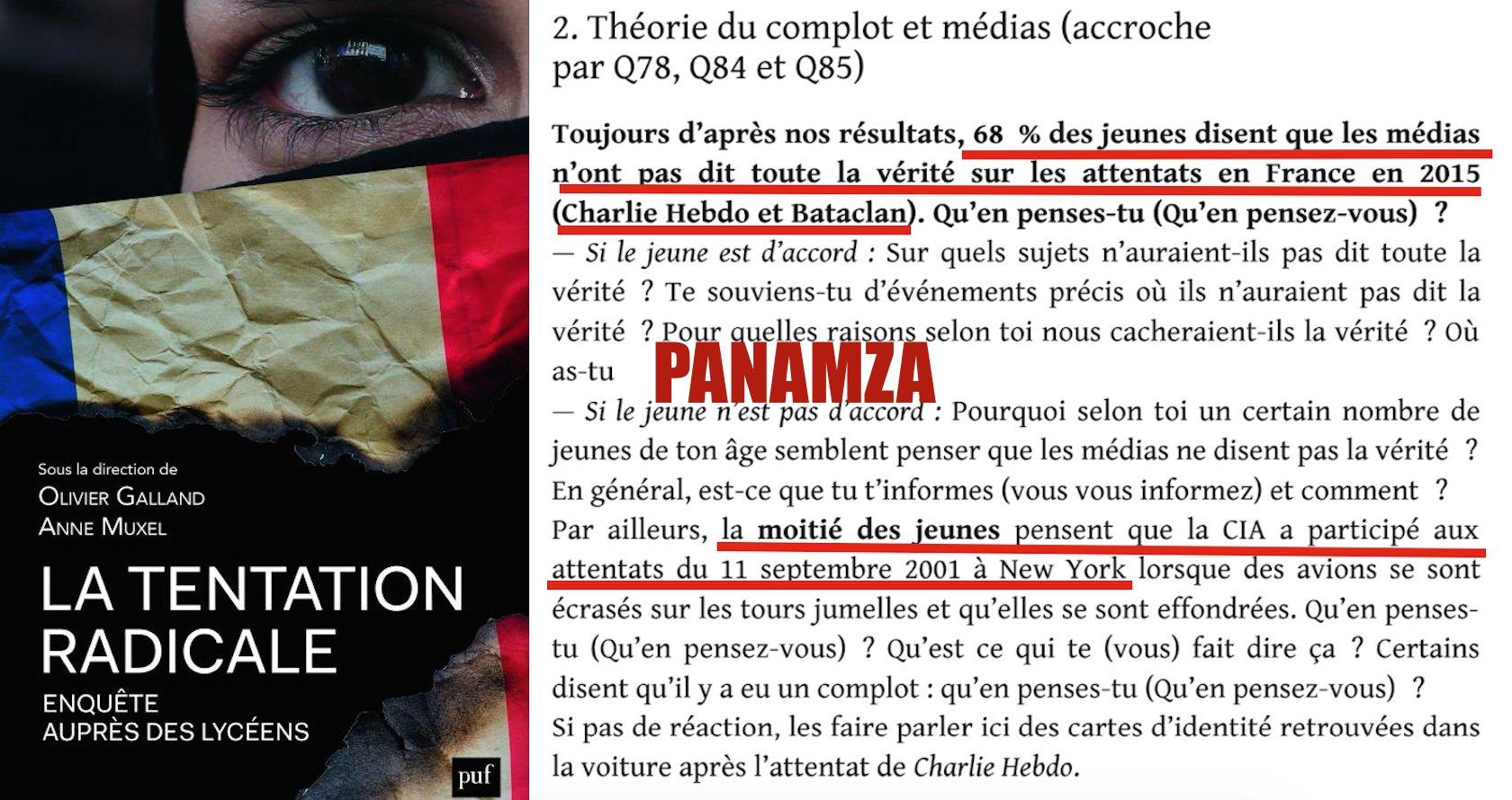 L'effet Panamza : 2 jeunes sur 3 rejettent la version officielle des attentats de 2015