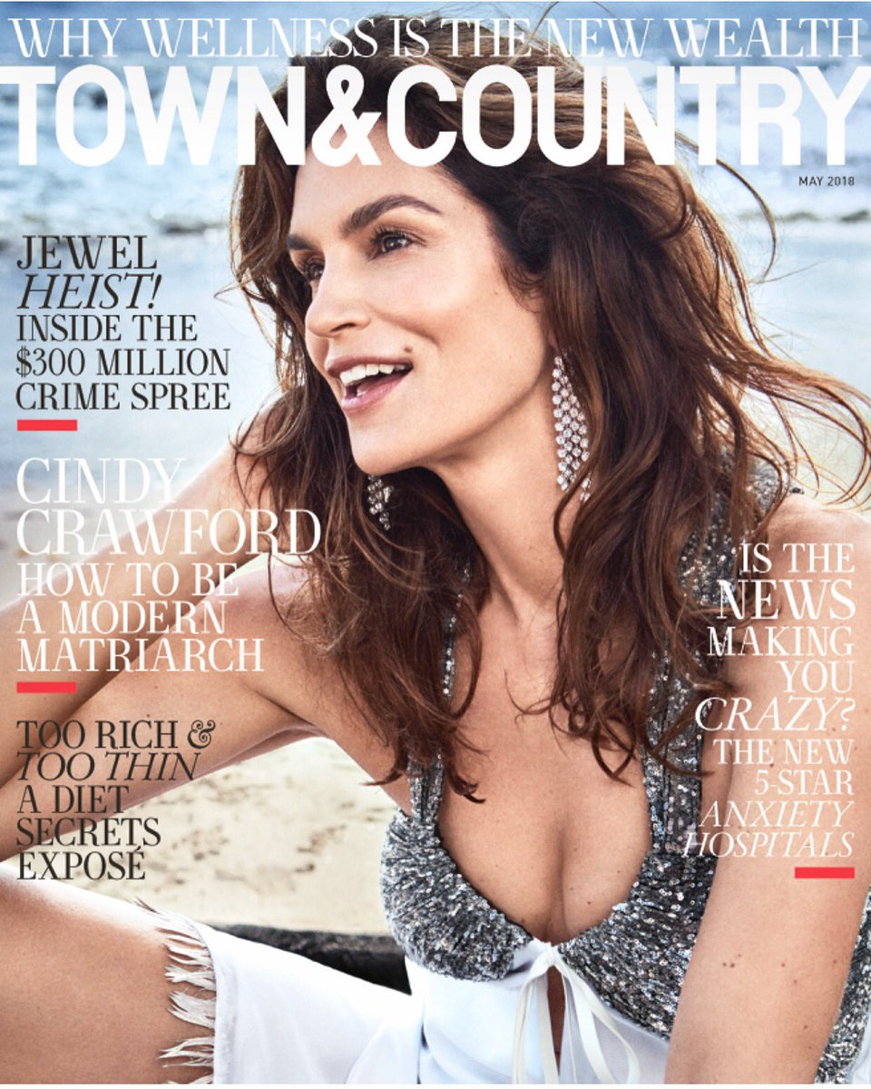 .@CindyCrawford on the cover of the new @TandCmag profiled by the great @brooksbarnesNYT