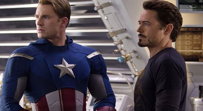 ICYMI: \Captain America\ Star Chris Evans Wishes Robert Downey Jr. A Happy Birthday