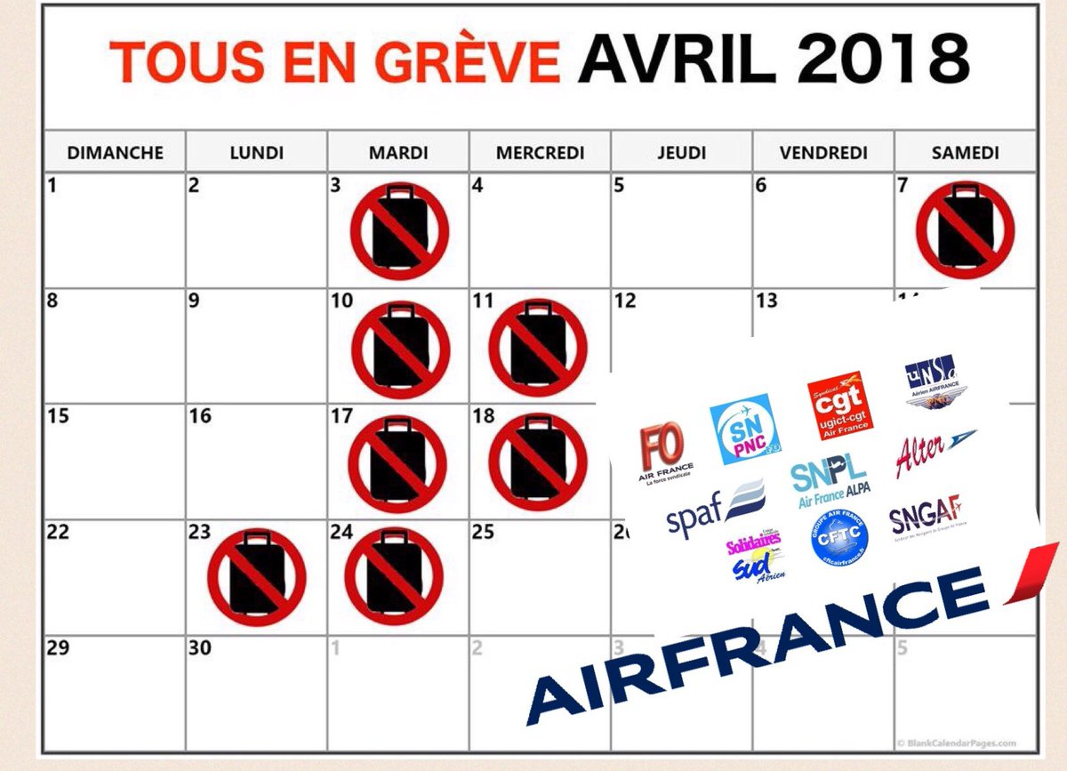 Calendrier Greves Air France.Unsa Aerien Pnc Af On Twitter L Intersyndicale Air France