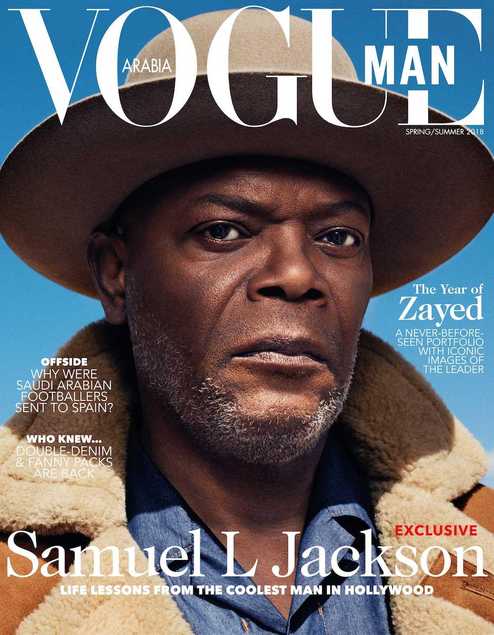 Magazine Covers On Twitter Samuel L Jackson For Vogue Man Arabia Spring Summer 2018 Samuelljackson Vogue
