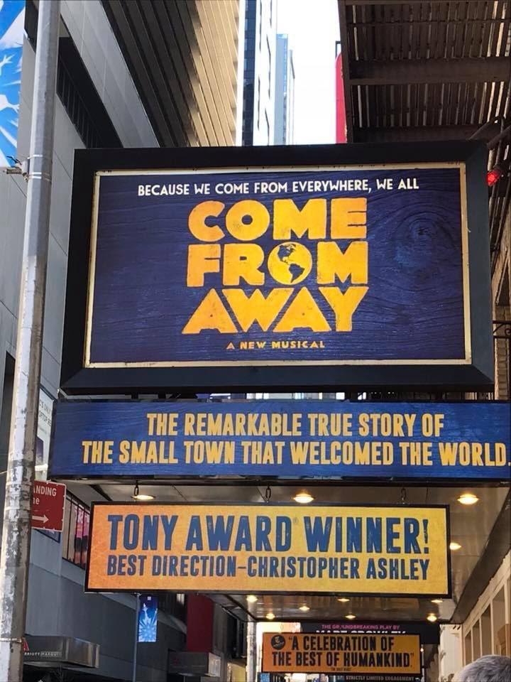 This was one of the best days of my life @wecomefromaway @petieb @astridvanwieren @romanomusic Curtis and I were honored to meet you all, thank you so very much. Such an amazing show! #mindblown #makesmyhearthappy #iHeartNL #ImAnIslander #GodLoveYaGander