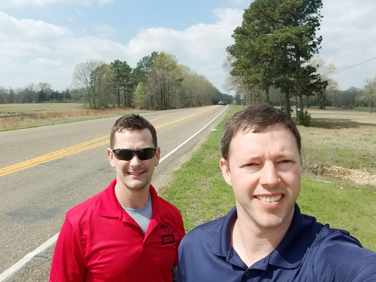 Really wishing John & Chris had brought the warm weather back with them.  We are glad they had great traveling weather for their epic Tour De #Hwy82 in Northeast #Texas!