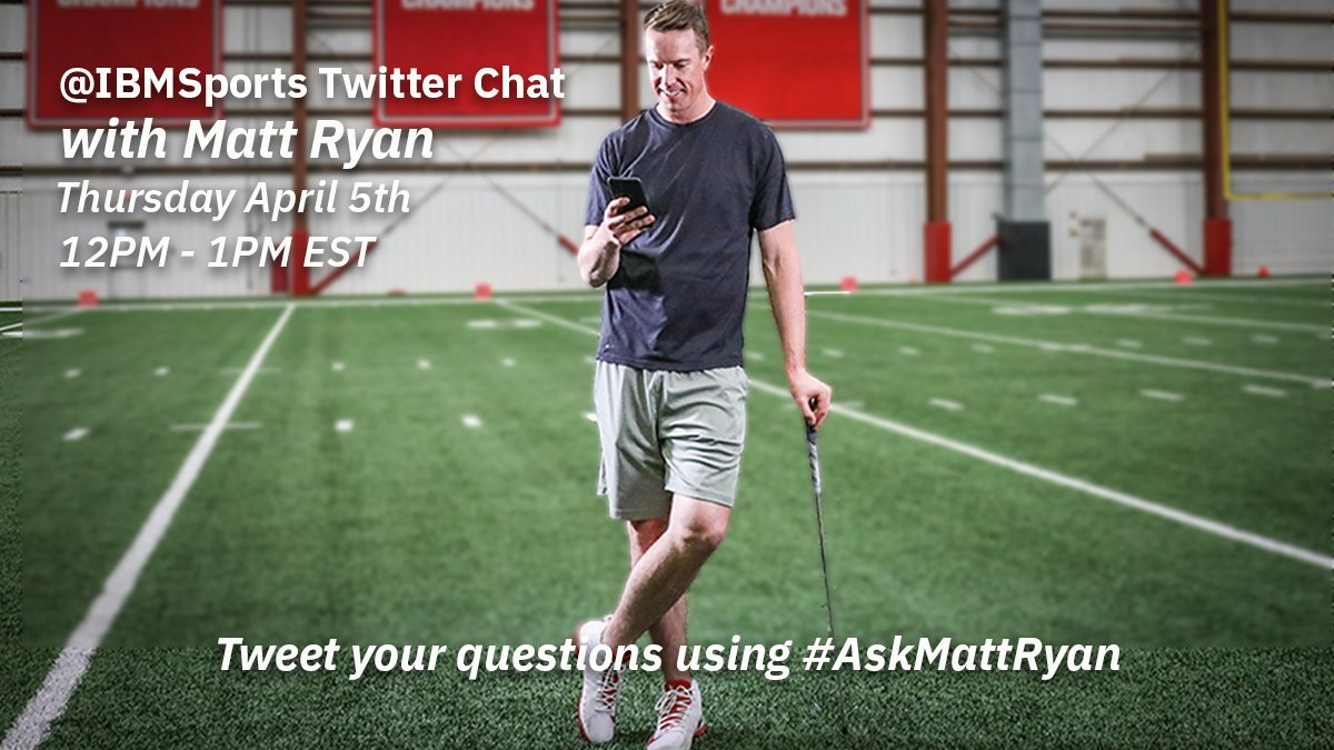 Ill be at #TheMasters with @IBMSports on Thursday from 12-1PM EST answering your questions. Tweet them using #AskMattRyan