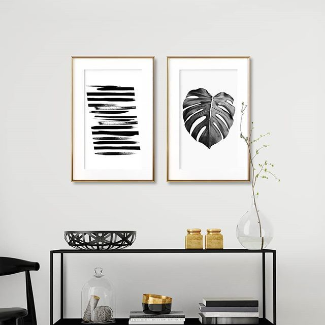 Black and White is always an option.🖤 - Get these designs in the link in bio. MARBLE STRIPES by Anna Mainz MONSTERA LEAF BW by Sisi and Seb - #artboxone #bespecial https://t.co/C4dSQUpKVe