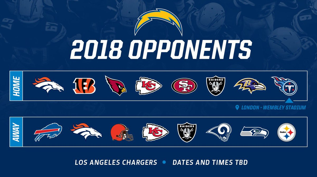 Chargers Schedule 2020.La Chargers Schedule Los Angeles Chargers 2020 Schedule