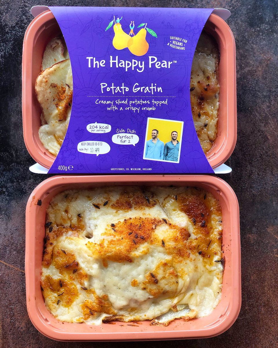 GIVEAWAY!! 👍🏻 We have a new side dish out our #vegan potato gratin - WAHOO!! Even a friend tried it earlier and said it is the best gratin he ever tasted, and he isn't a vegan! To be in w a chance to win a week supply worth - RT to enter now available nationwide @supervalu_irl