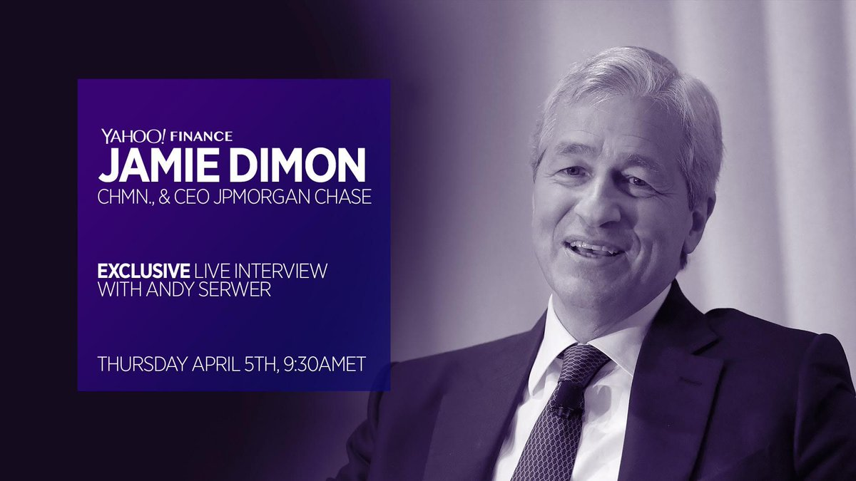 THURSDAY exclusive interview Jamie Dimon Chairman Chief