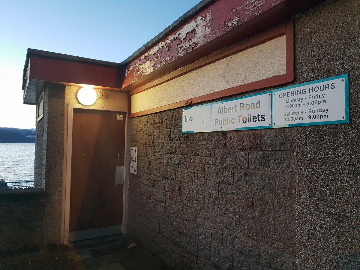 Albert road public toilets