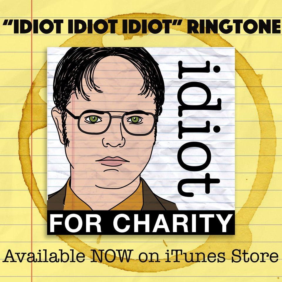 Don't be an IDIOT, buy this ringtone! itunes.apple.com/us/album/idiot…