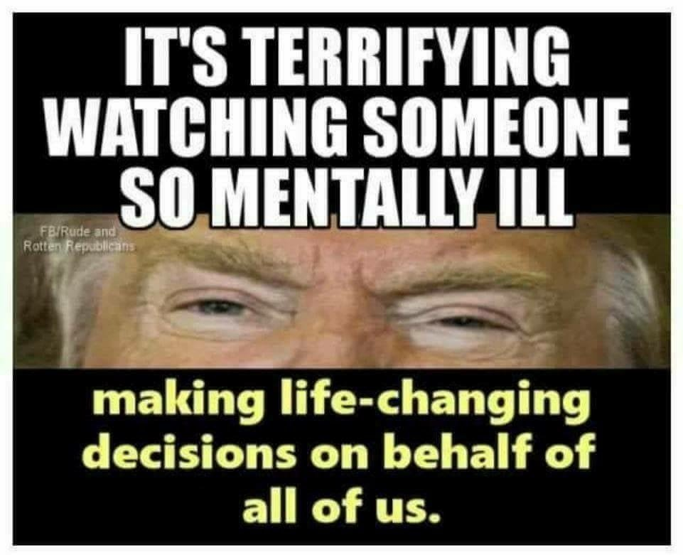 Draft-Dodging-Donnie(@realDonaldTrump) is incompetent! Period! He lost the popular vote! This scarfaced imbacile should be locked up!
