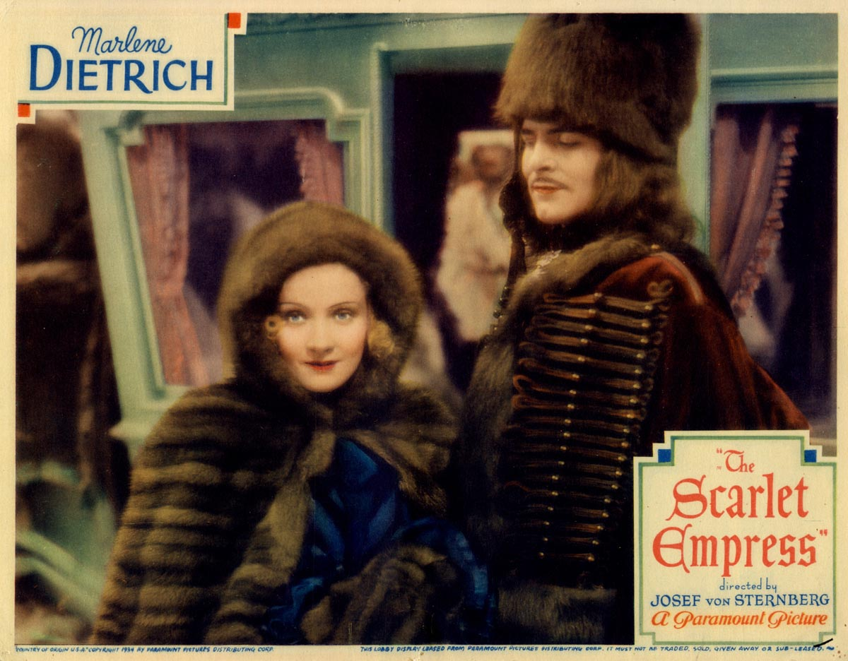 3/23/93 at 7 pm on AMC. I hear @tcm will be debuting a much-needed new HD transfer of this intoxicating Dietrich-Von Stenberg 1934 epic (which kicked off 'Shadows of Russia'' in 2010) on Sunday. Co-star John Lodge is a future governor and namesake of the Connecticut Turnpike.