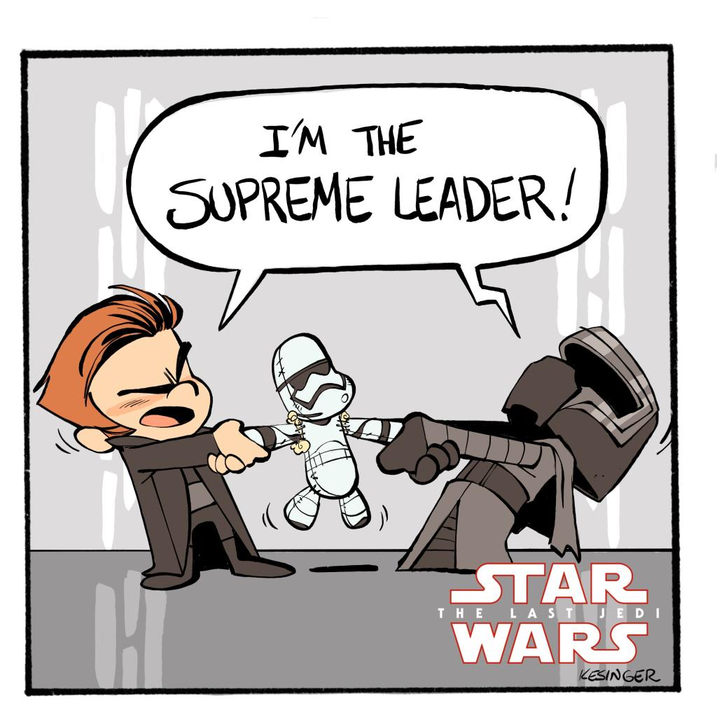Lil' Kylo doesn't play well with others. #TheLastJedi #StarWarsArt by @briankesinger
