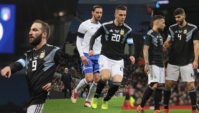 Argentina vence 2-0 a Italia en Amistoso
