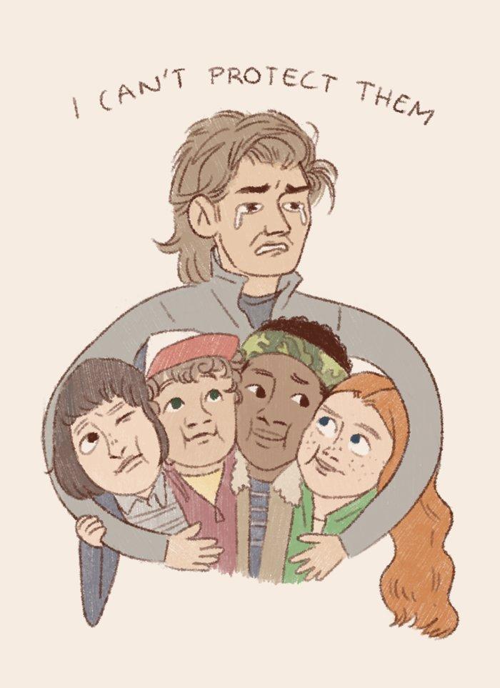 essas fanarts de Steve com as suas crian...