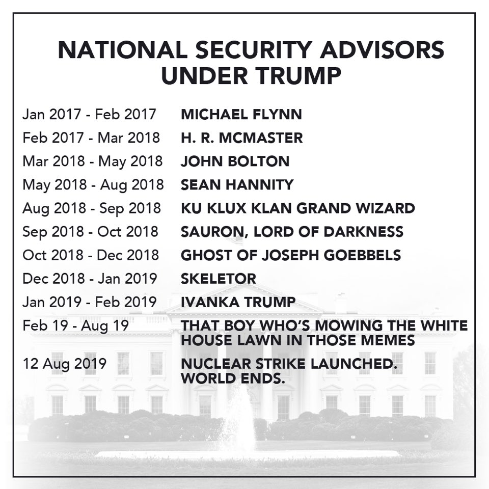 The full list of Trump's future National...
