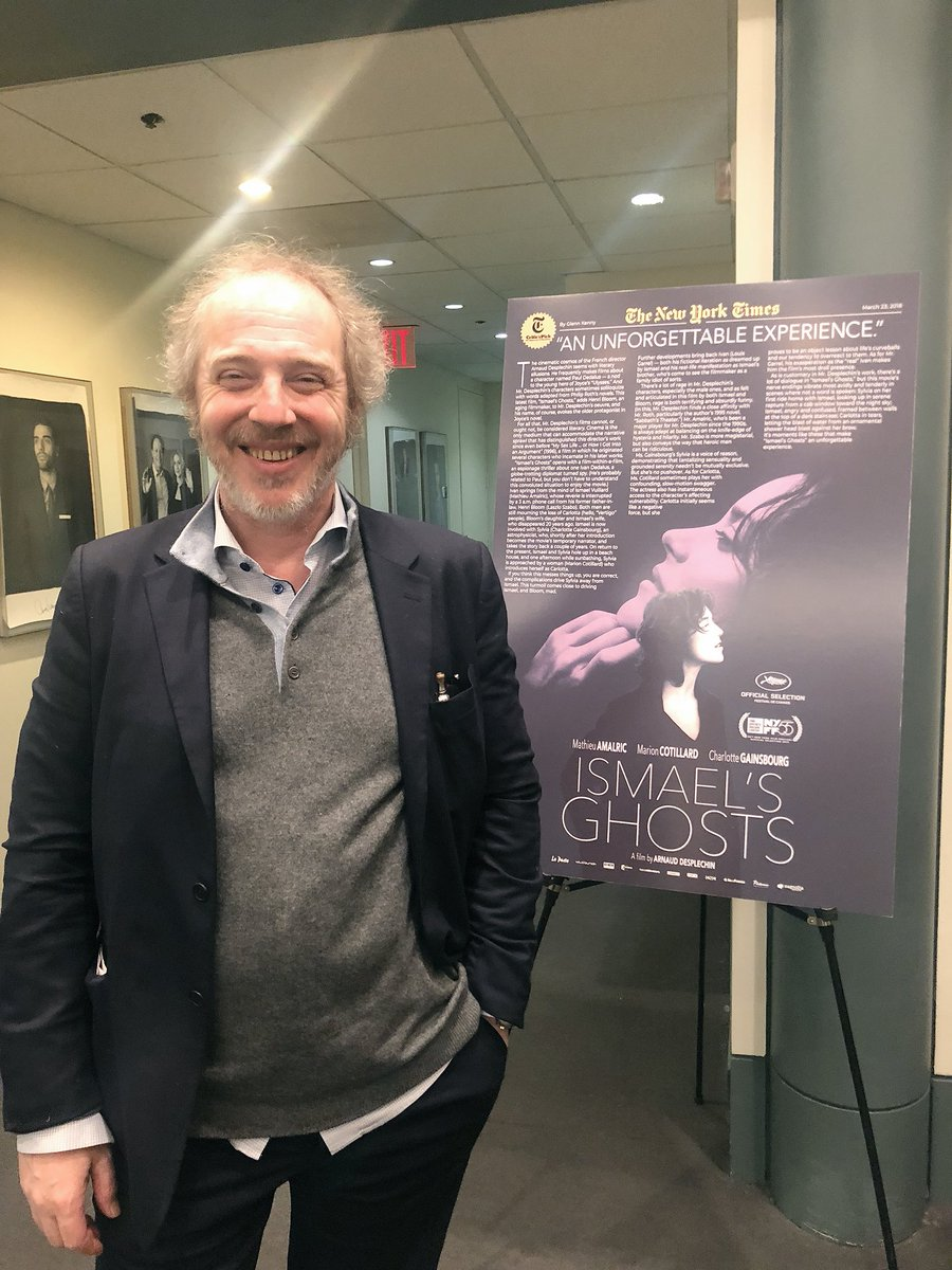 Opening Night of ISMAEL'S GHOSTS with @arnaudesplechin! He's back for more Q&amp;As Sat. &amp; Sun. at 3:45pm screenings:  http:// filmlinc.org/ismaelsghosts  &nbsp;  <br>http://pic.twitter.com/HETDFliCiV &ndash; à Film Society of Lincoln Center