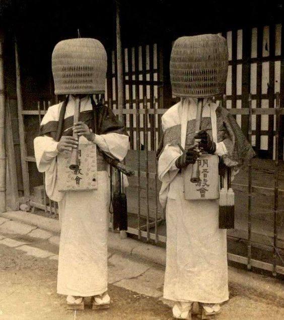 Komuso (Japanese bamboo flute) - 1904 -...